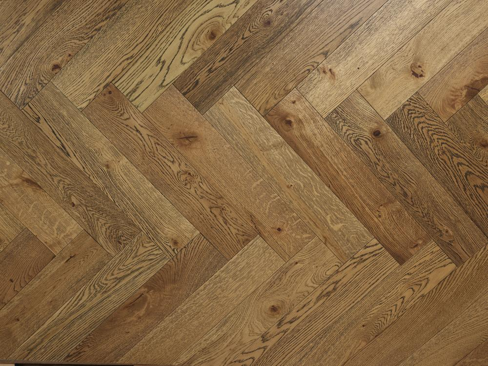 Engineered Oak Rustic Grade Black Grain Oiled