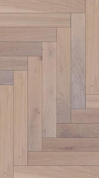 Engineered Herringbone Oak Rustic White Oiled
