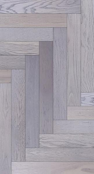 Engineered Herringbone Oak Rustic  Dark Grey Oiled