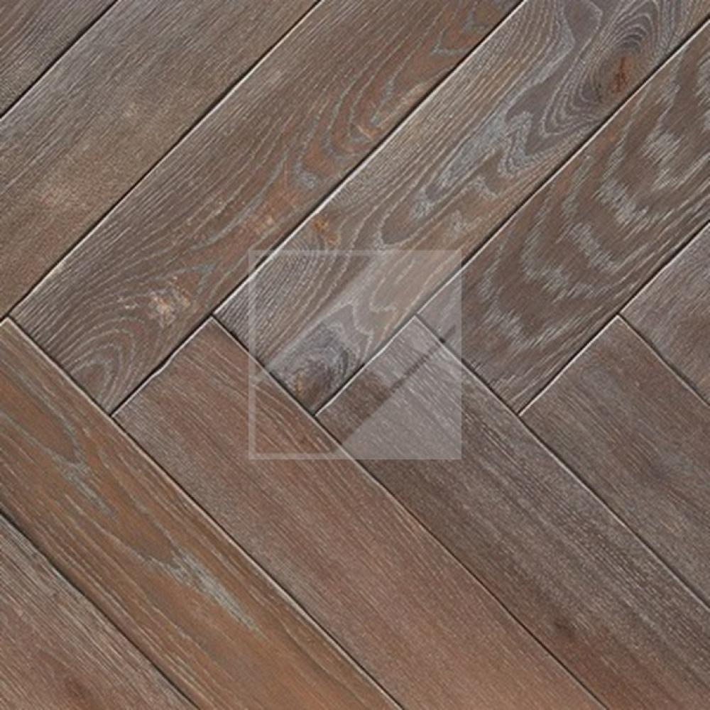 Engineered Oak Rustic Brown/Grey Oiled