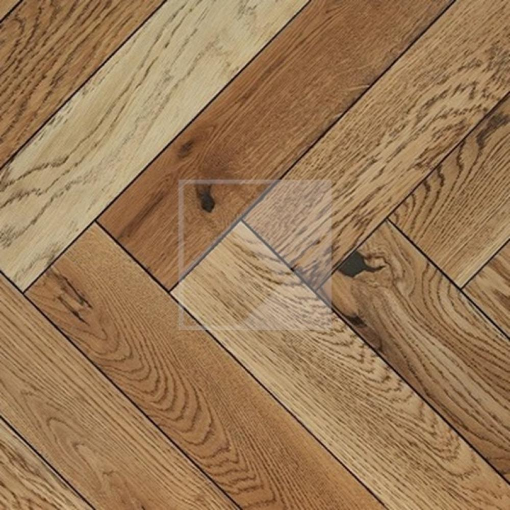 Engineered Oak Rustic Black Oiled - 20 x 100 x 500