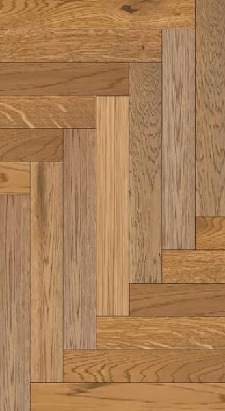 Engineered Herringbone Oak Rustic Brown Oiled